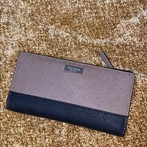Kate Spade Leather Brown & Tan Wallet